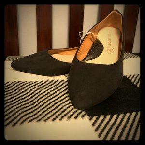 Black Gold Toe size 8 flats